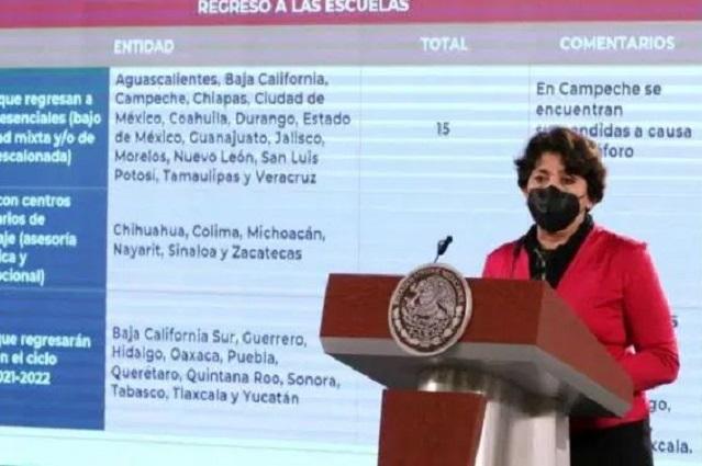 Afirma AMLO que ahora sí ya viene la SEP federal a Puebla