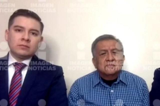Aparece Saúl Huerta con sus abogados en noticiero de TV