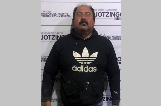 Detiene policía de Huejotzingo a hombre por violencia familiar