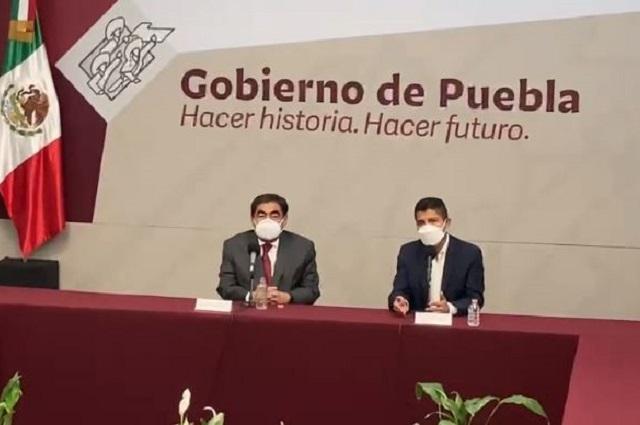 Recibe el gobernador Barbosa a Eduardo Rivera en Casa Aguayo