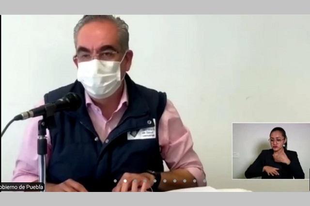 Reportan baja en contagios de Covid-19 en Puebla