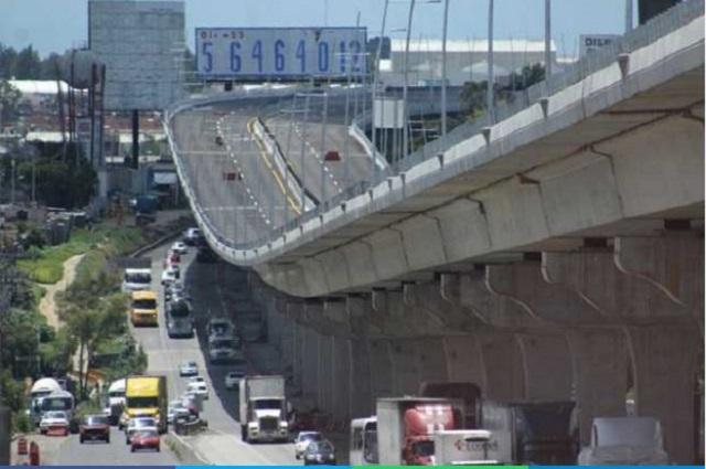 Descartan riesgo en estructura del segundo piso de la México-Puebla