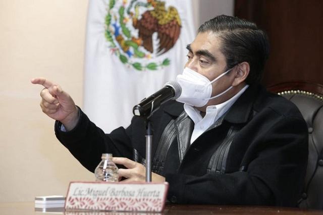 Caso Marín revelará corrupción y prestanombres en Puebla: Barbosa