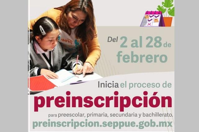 Inician preinscripciones para educación obligatoria en Puebla