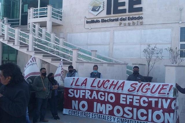 Morenistas afines a Biestro bloquean IEE y registro de candidaturas