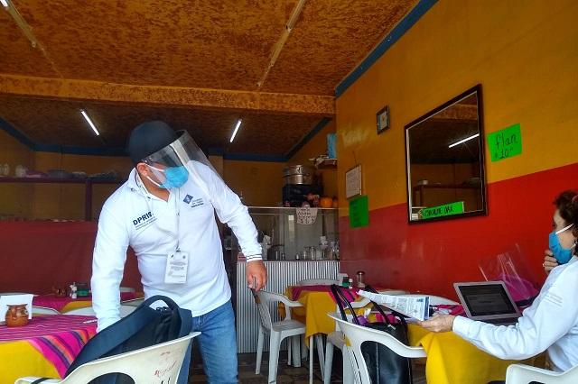 Clausuran fondas de Tehuacán por no vender alimentos para llevar