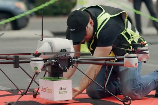 Uber Eats realiza pruebas para entrega de alimentos en drones