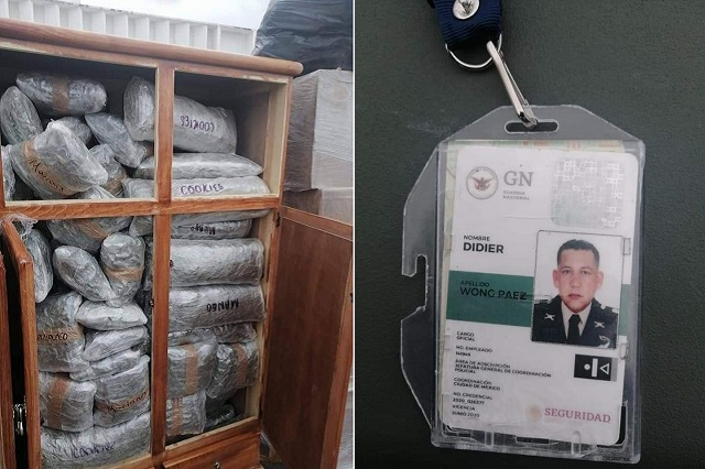 Cae en Yucatán GN poblano con cargamento de droga