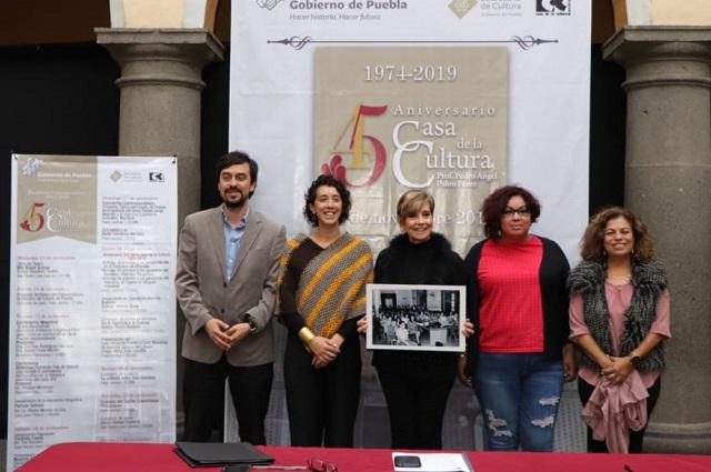 Con conciertos y expos celebran 45 años de la Casa de la Cultura