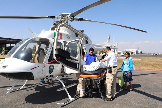 Niñas de Durango son trasladadas a HNP para atención especializada