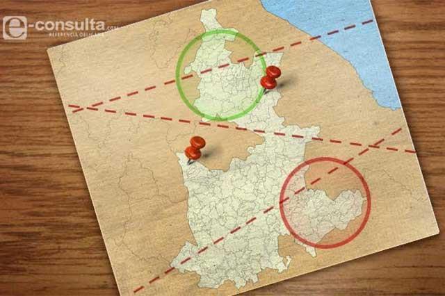 Primer escenario INE reconfigura cuatro distritos de la Sierra Norte
