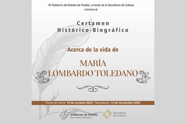 Lanza Secretaría de Cultura certamen histórico-biográfico