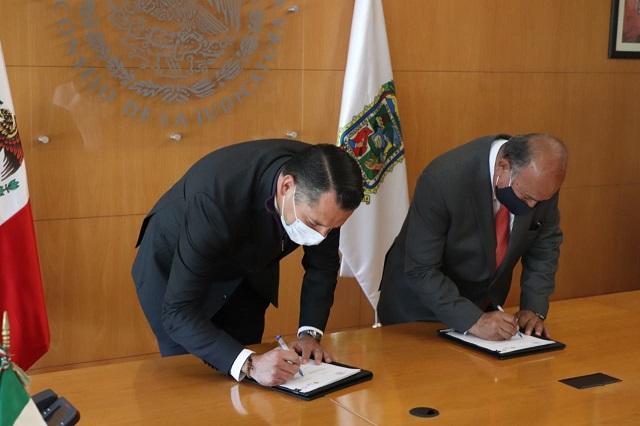 TSJ y gobierno del estado firman convenio de difusión cultural