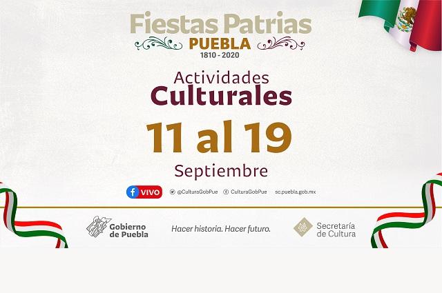 Programa de fiestas patrias alista la Secretaría de Cultura
