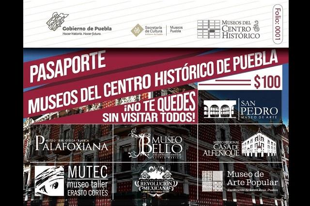Presentan Pasaporte para visitar diferentes  museos  de Puebla