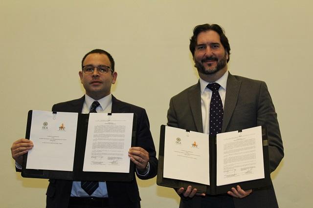 Firman acuerdo de colaboración la OEA y el IEE