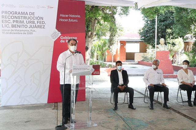 Rehabilitan primarias en Izúcar de Matamoros, SEP y CAPCE