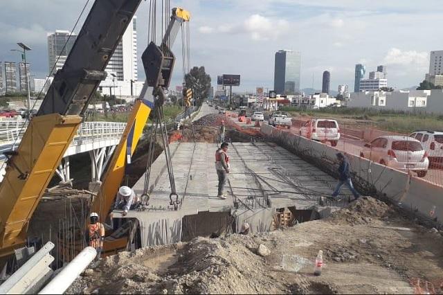 Al 95 por ciento, avance del puente Santa Clara en Periférico, informan