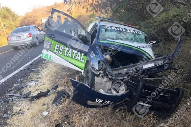 Policías de Puebla heridos tras provocar choque en Tehuitzingo