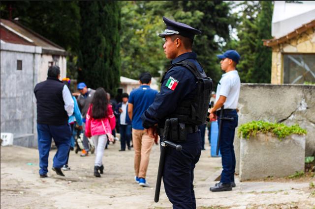 Reporta SSC de Puebla saldo blanco en festividades de día de muertos