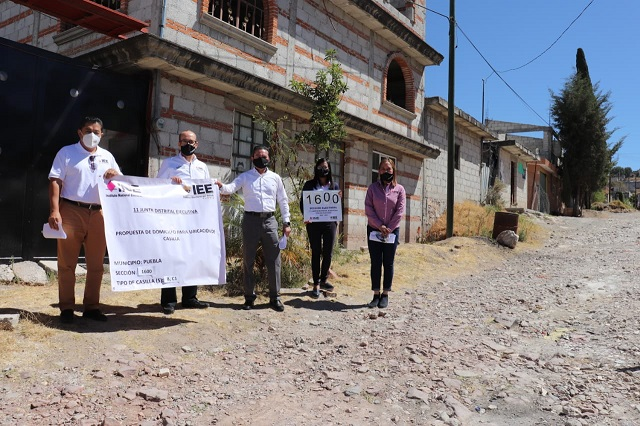 Supervisan IEE e INE Puebla sana distancia en casillas electorales