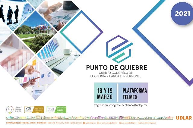 Prepara UDLAP congreso anual de economía Punto de Quiebre