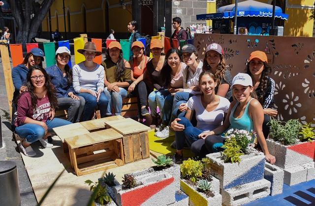 Alumnos UDLAP recuperan espacio urbano en el Centro Histórico