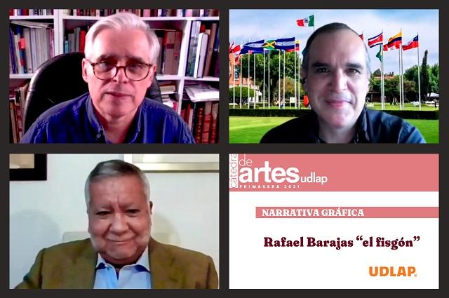 El arte cambia al mundo, dice El Fisgón en Cátedra de Artes UDLAP