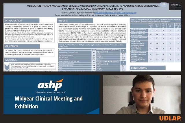 Estudiante UDLAP participa en reunión mundial farmacéutica