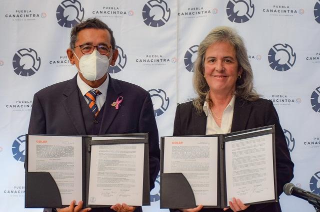 Relanzan programa de becas de UDLAP para socios de Canacintra