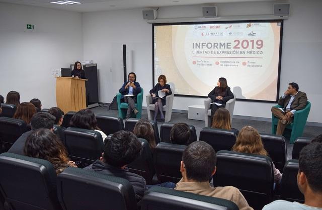 """Presentan en UDLAP el informe """"Libertad de expresión en México"""""""