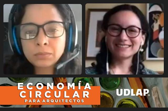 Diálogo sobre economía circular para arquitectos, en la UDLAP