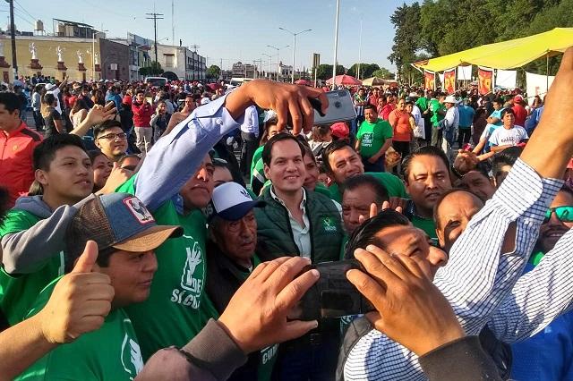 Registra el Partido Verde buena aceptación de Barbosa, sostiene Kuri