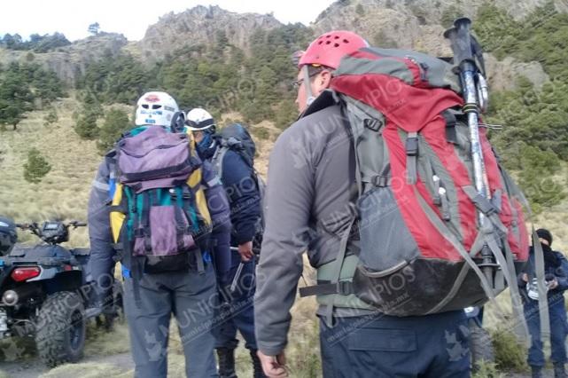 Intentan recuperar cuerpo de excursionista en La Malinche