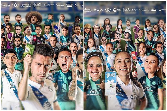 Puebla femenil y varonil presentan su foto oficial para el Guard1anes 2021