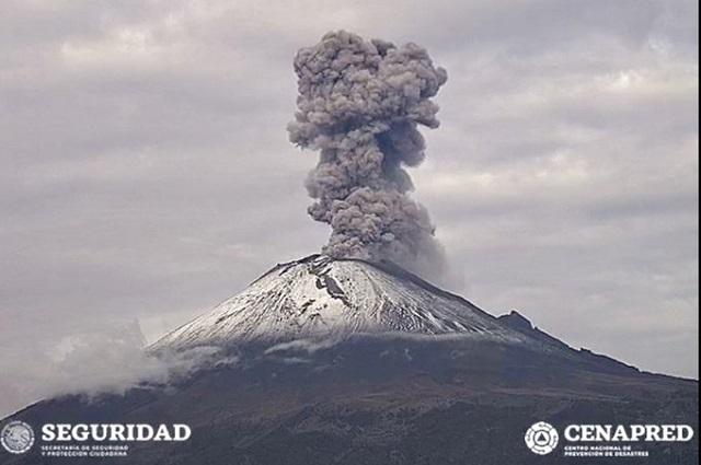 Registra el Popocatépetl dos explosiones en las últimas horas