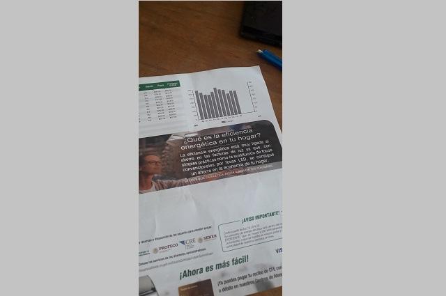 Señalan aumento excesivo en costo de luz en Atlixco