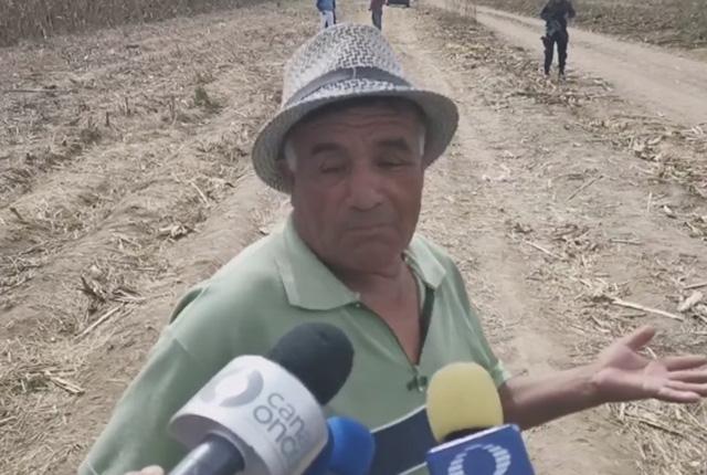 Dueño exige pago por daños a su terreno tras herlicopterazo