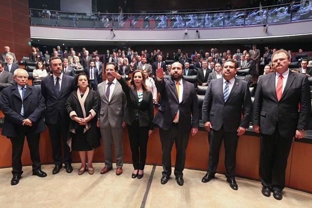 Blanca Lilia Ibarra, comisionada del INAI, acuerda el Senado