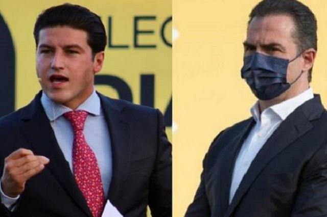 Samuel García y Adrián de la Garza dicen que ganaron NL