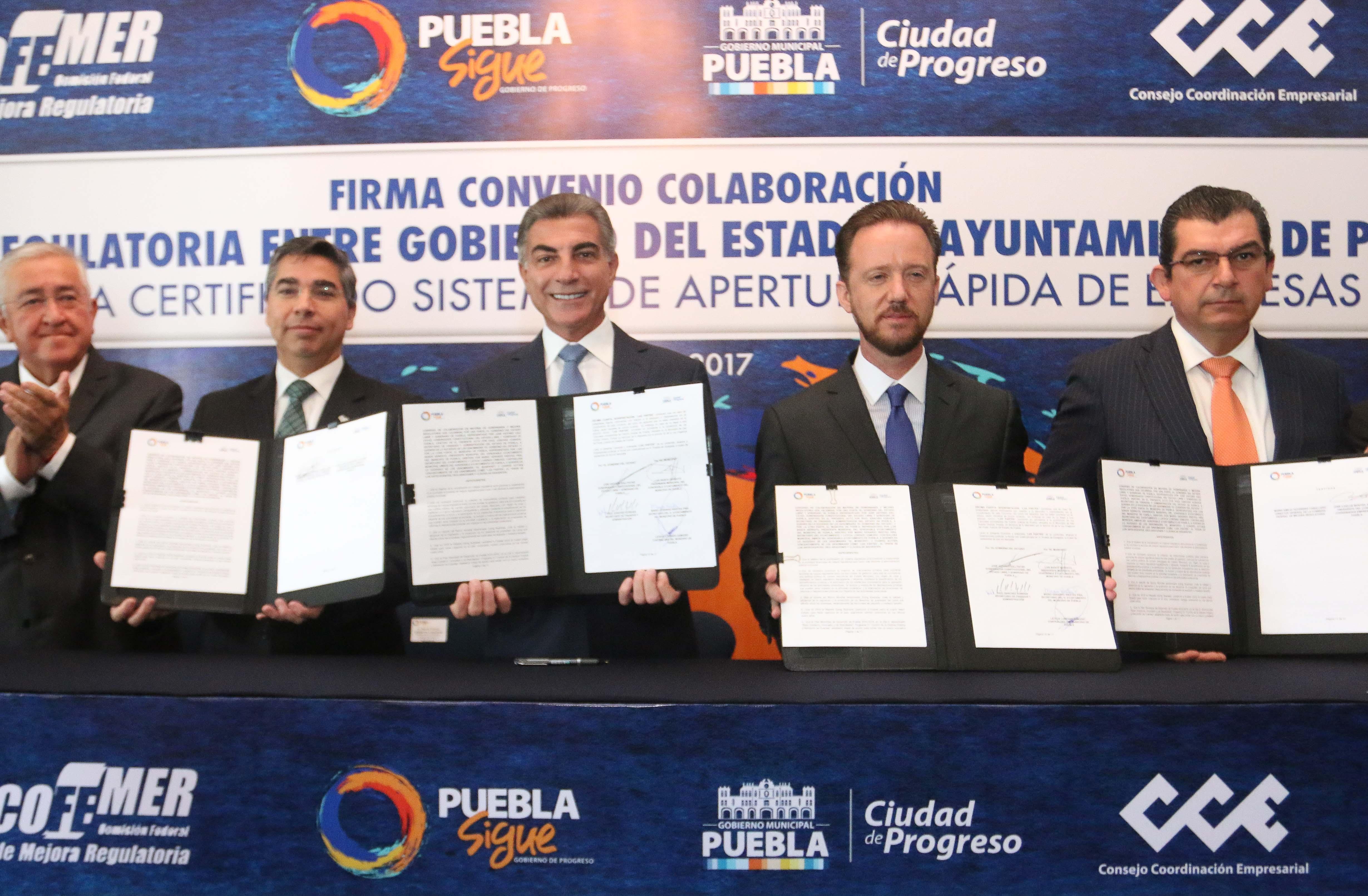 Gobierno estatal y municipio de Puebla impulsan mejora regulatoria