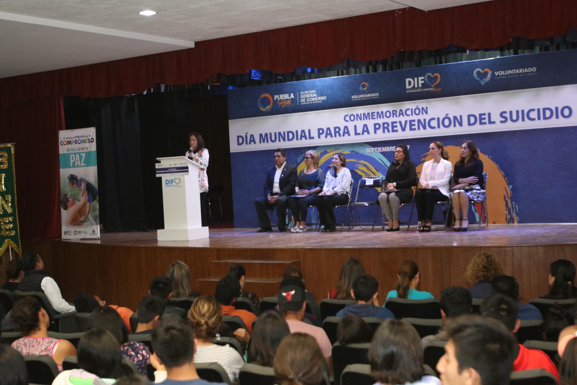 López de Gali promueve acciones para prevenir el suicidio en Puebla