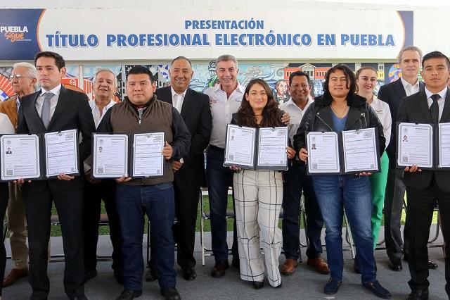 Puebla, primer estado en emitir título profesional electrónico: Gali
