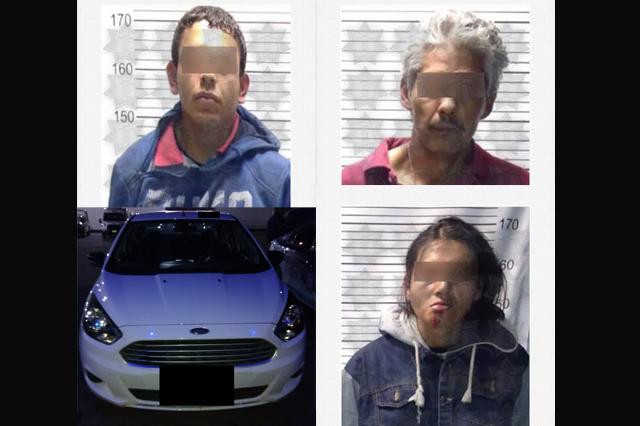 Policía estatal atrapa a tres ladrones en la Guadalupe Hidalgo