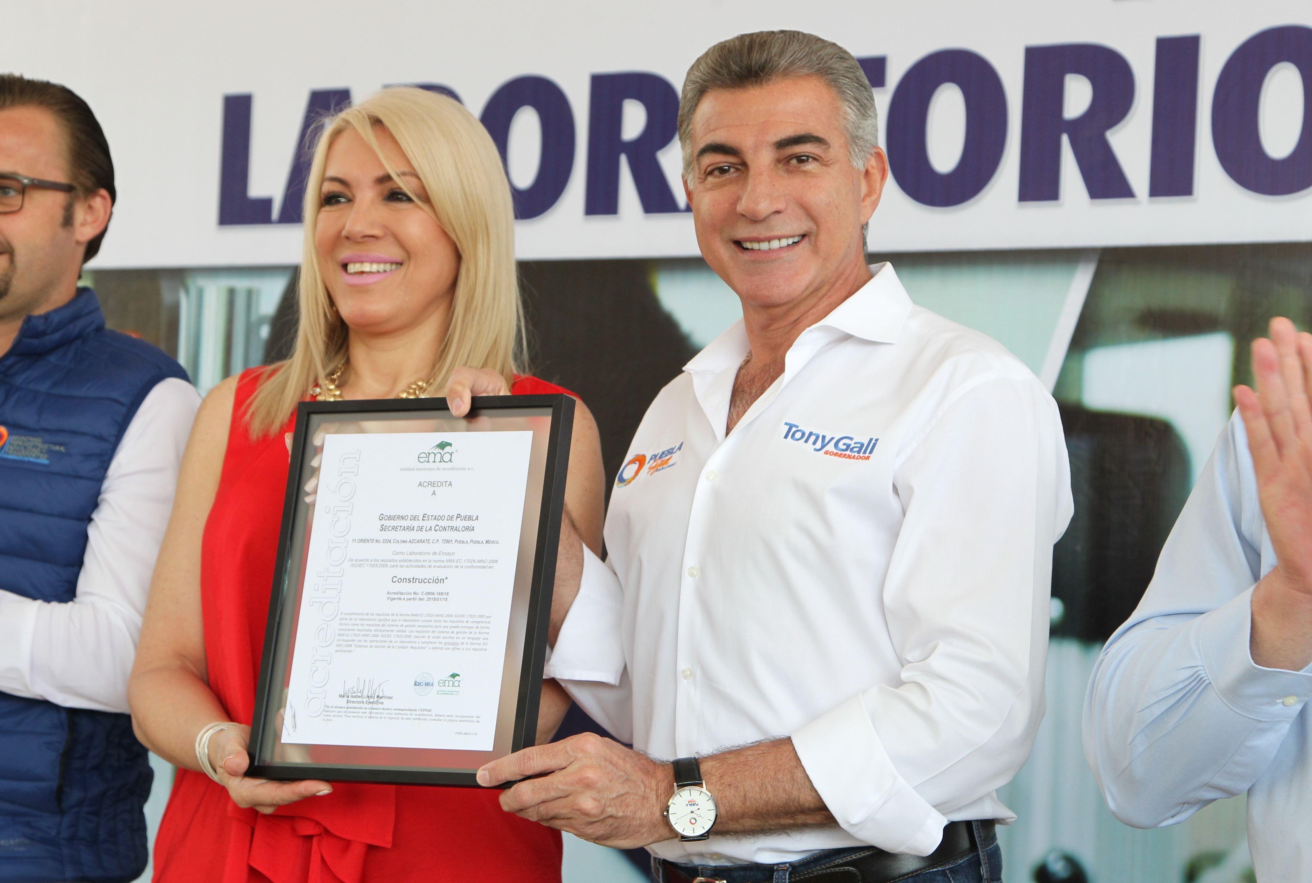 Recibe Gali acreditación de laboratorio de control de calidad de obra