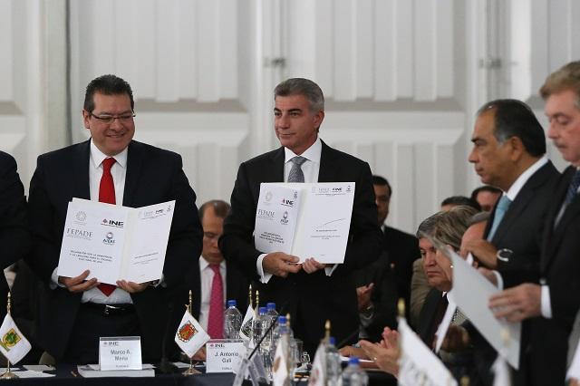 Firma Gali Declaración por democracia y legalidad en las próximas elecciones