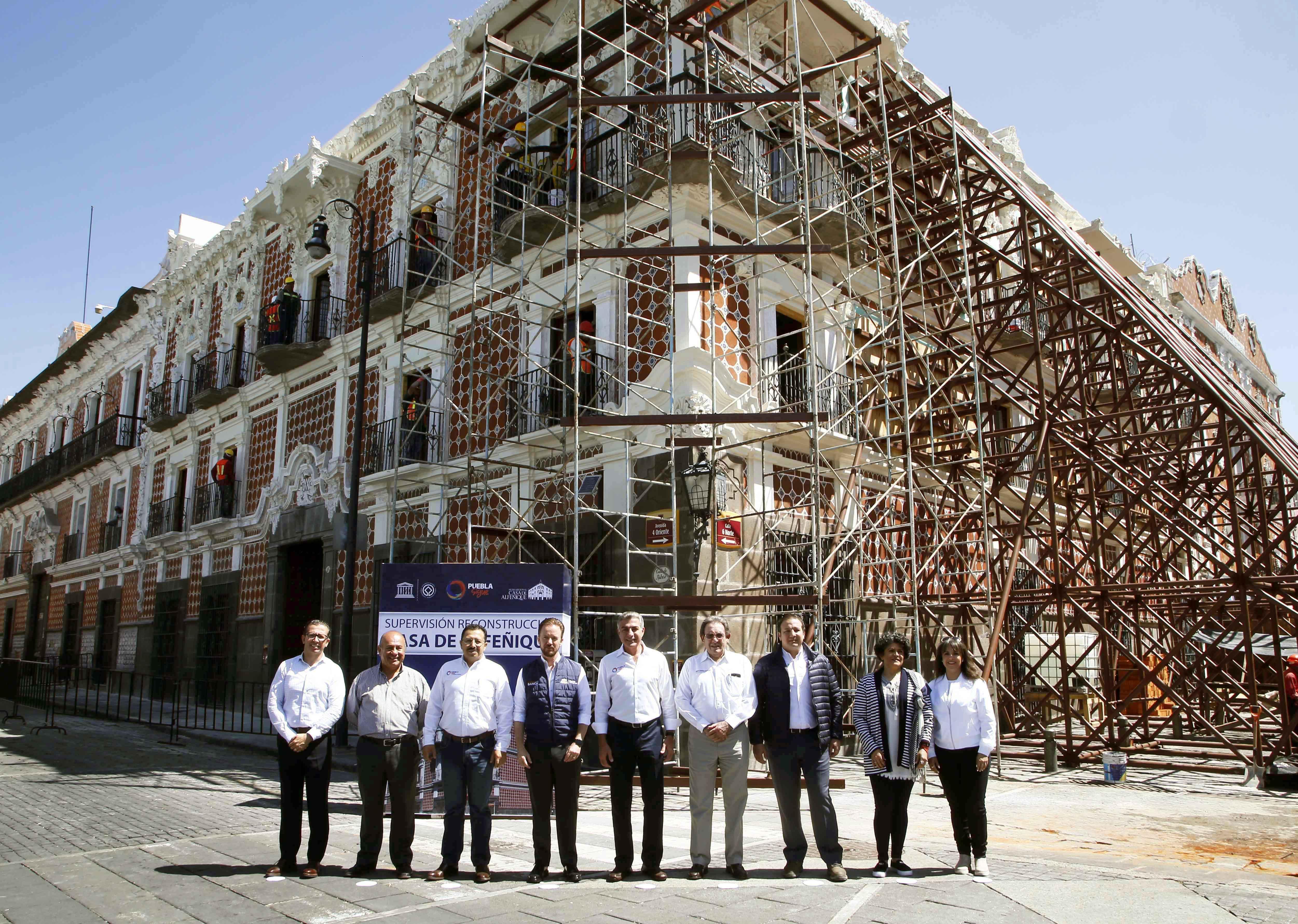 Avanza reconstrucción de la Casa de Alfeñique con 34 mdp