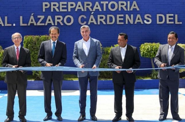 Inauguran Gali y Esparza la preparatoria Lázaro Cárdenas