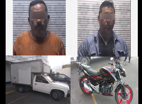 Policías estatales aseguraron a cinco personas y recuperaron ocho vehículos