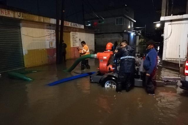 Se inundan calles y 11 viviendas por lluvias en Cuautlancingo